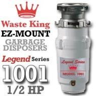 Waste King Garbage Disposal - 1001 Half HP Legend Series Garbage Disposer