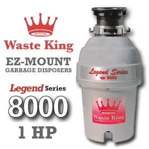 Waste King Garbage Disposal - 8000    1 HP Legend Series