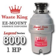 Waste King Garbage Disposal - 8000    1 HP Legend Series