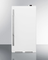 Commercially approved frost-free all-refrigerator with digital thermostat, right hand door swing, and lock