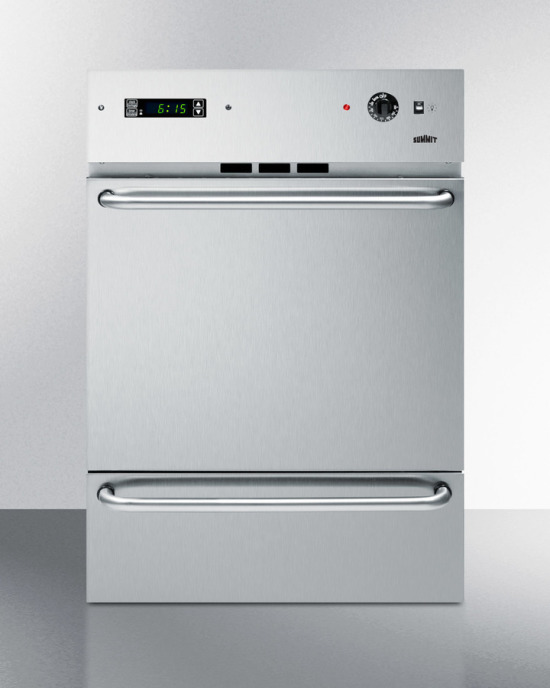 Stainless steel gas wall oven with electronic ignition and digital clock/timer; for cutouts 22 3/8' wide by 34 1/8' high