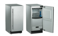 Brilliance Nugget Ice Machine: Gravity Drain- Front Stainless Steel