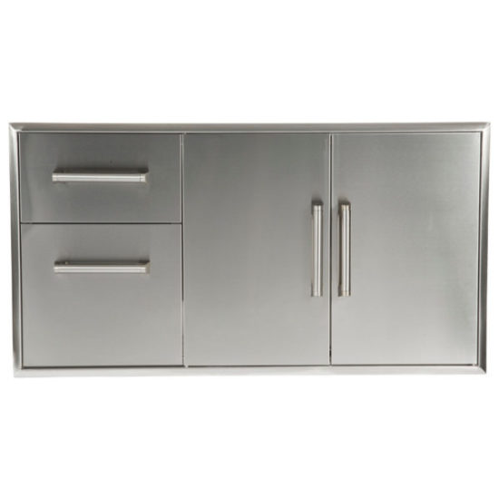 Combination Storage: Two Drawer Cabinet & Double Access Doors