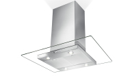 Elegant flat glass canopy kitchen range hood