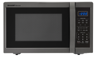 SHARP CAROUSEL COUNTERTOP MICROWAVE OVEN 1.4 CU. FT. 1100W BLACK STAINLESS STEEL