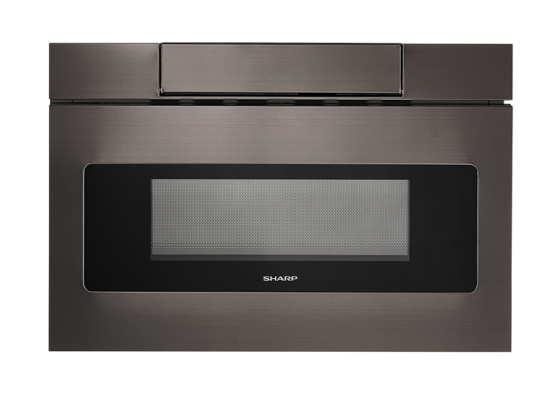 SHARP MICROWAVE DRAWER OVEN, 24 IN. 1.2 CU. FT. 1000W BLACK STAINLESS STEEL