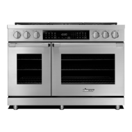 """48"""" Heritage Dual Fuel Pro Range - Stainless Steel  Natural Gas"""