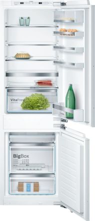 """800 Series24"""" Built-in Two Door Bottom Freezer Refrigerator with Home Connect, B09IB81NSP, Custom Panel"""