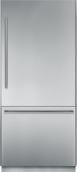36 inch Pre-Assembled Built-In Bottom-Freezer with Masterpiece Handles