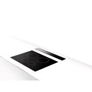 Scirocco Lux 30 Inch Down Draft Range Hood - Black Glass