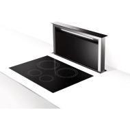 Scirocco Lux 36 Inch Down Draft Range Hood-Black Glass