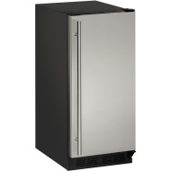 15-In. 1000 Series Stainless Solid Field-Reversible Clear Ice Maker with Pump