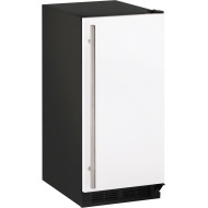 15-In. 1000 Series White Solid Field-Reversible Clear Ice Maker with Pump