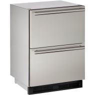 24-In. Outdoor Series Stainless Solid Refrigerator Double Drawers
