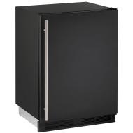 24-In. Combo Black Solid Refrigerator/Freezer with Reversible Door Hinge