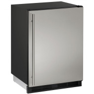24-In. Combo Stainless Solid Refrigerator/Freezer with Reversible Door Hinge