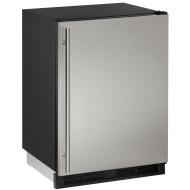 24-In. 1000 Series Stainless Solid Door Refrigerator with Reversible Door Hinge