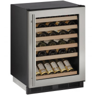 24-In. 1000 Series Stainless Frame Wine Captain with Reversible Door Hinge and Lock