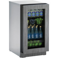 18 In. 2000 Series Glass Door Refrigerator - Integrated Frame Door with Right-Hand Hinge