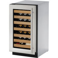 18-In. 2000 Series Wine Captain with Stainless Frame Left-Hand Door