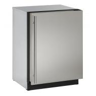 24-In. 2000 Series Stainless Solid Door Refrigerator with Reversible Door Hinge