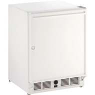 21-In. White Solid Door Refrigerator with Left-Hand Hinge and Lock