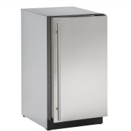 18-In. 3000 Series Stainless Solid Clear Ice Machine with Reversible Door Hinge, No Pump