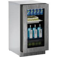 18 In. Modular 3000 Series Integrated Frame Glass Door Refrigerator with Left-Hand Hinge