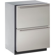 24-In. Modular 3000 Series Stainless Solid Refrigerator Drawers