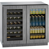 36-in. Modular 3000 Series Double Door Beverage Center with Integrated Frame