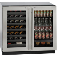 36-in. Modular 3000 Series Double Door Beverage Center with Stainless Frame and Lock