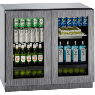 36 In. 3000 Series Integrated Double Glass Door Refrigerator with Overlay Frame