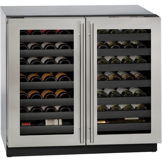 36-In. Modular 3000 Series Stainless Frame Double-Door Wine Captain Beverage Chiller