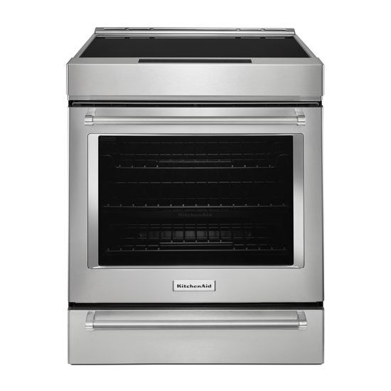 30-Inch 4-Element Induction Slide-In Convection Range with Baking Drawer
