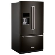 KitchenAid 26.8 cu. ft. 36-Inch Width Standard Depth French Door Refrigerator with Exterior Ice and Water and PrintShield™ Finish