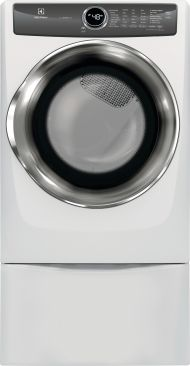 Model: EFME527UIW   Front Load Perfect Steam™ Electric Dryer with LuxCare® Dry and Instant Refresh - 8.0 Cu. Ft.