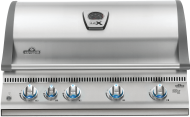 Built-in LEX 605 Natural Gas Grill Head with Infrared Bottom and Rear Burners, Stainless Steel