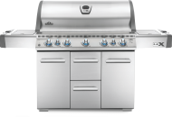 LEX 730 Propane Gas Grill with Side Burner and Infrared Bottom & Rear Burners, Stainless Steel