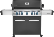 Prestige® 665 Natural Gas Grill with Infrared Side and Rear Burners, Grey