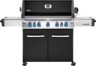 Prestige® 665 Propane Gas Grill with Infrared Side and Rear Burners, Black