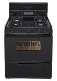 30 Inch  Sealed Burner  Electronic Spark Gas Range - Black