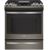 """GE GE® 30"""" Slide-In Front-Control Convection Gas Range"""