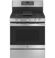 """GE GE® 30"""" Free-Standing Gas Convection Range with No Preheat Air Fry"""