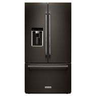 "KitchenAid 23.8 cu. ft. 36"" Counter-Depth French Door Platinum Interior Refrigerator with PrintShield™ Finish"