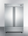 Model: SCRR491 | Commercially approved 46.6 cu.ft. reach-in two-door refrigerator in complete stainless steel; replaces SCRR490