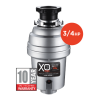 Model: XOD34HP | XO Ventilation 3/4 HP 10 Year Warranty, Continuous Feed waste disposer