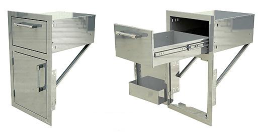 Drawer and Door Combo Unit Left Door