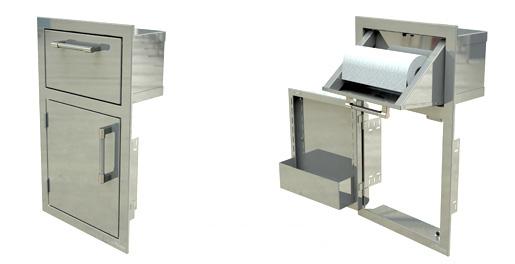 Drawer and Paper Towel Holder Combo Unit Left Door