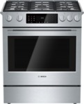 "Bosch 30"" Dual Fuel Slide-in Range 800 Series - Stainless Steel"