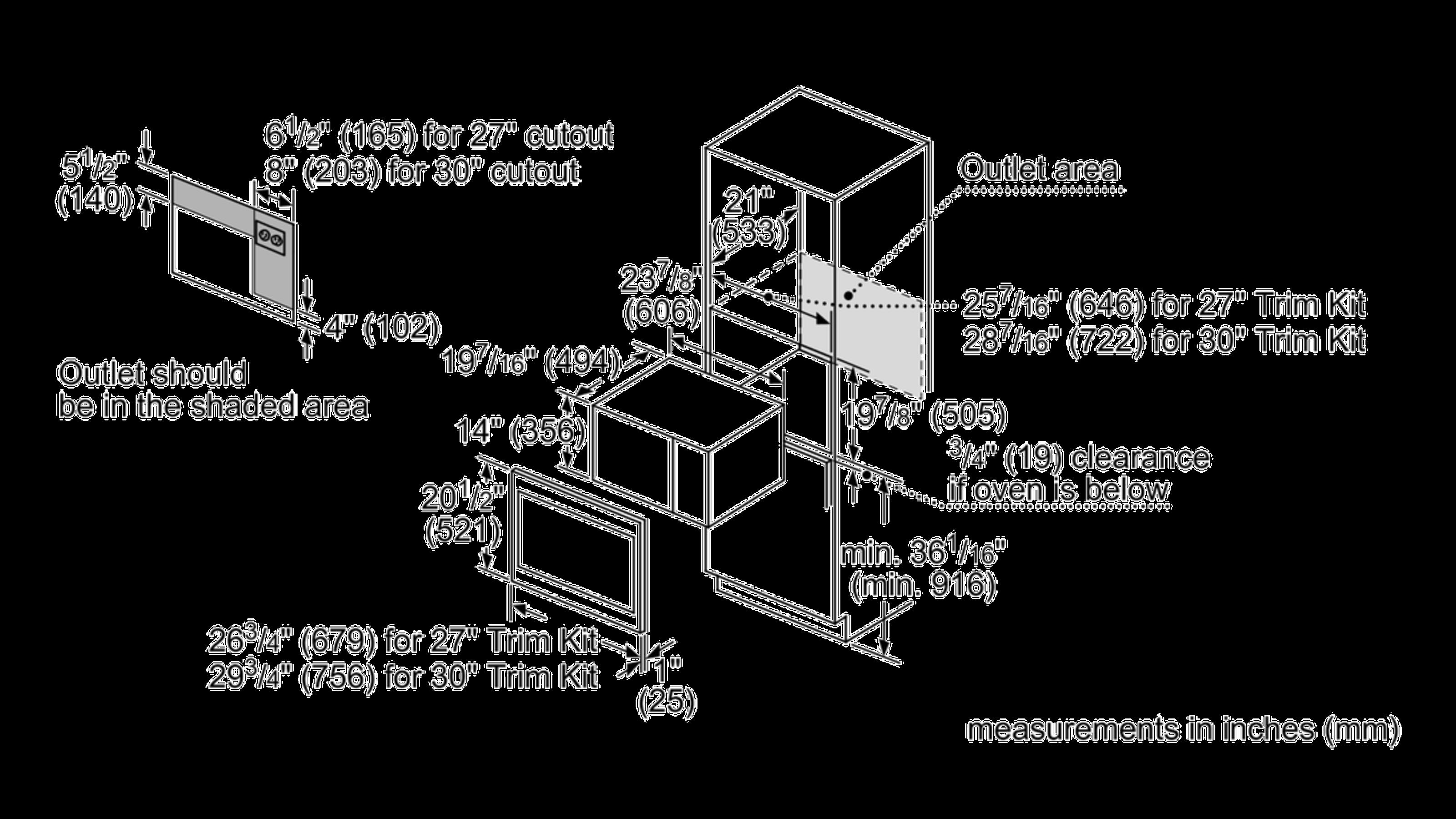 "Model: HMT5751 | Bosch BI Trim Kit, 27"", Standard MW, SS"